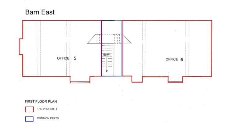 Barn East First Floor plan